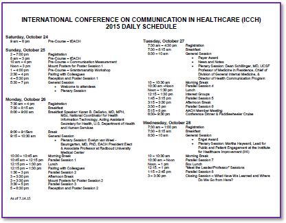 American Academy On Communication In Healthcare  Events